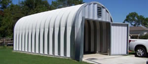 Metal Quonset Building
